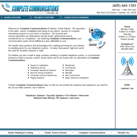 Complete Communications Website