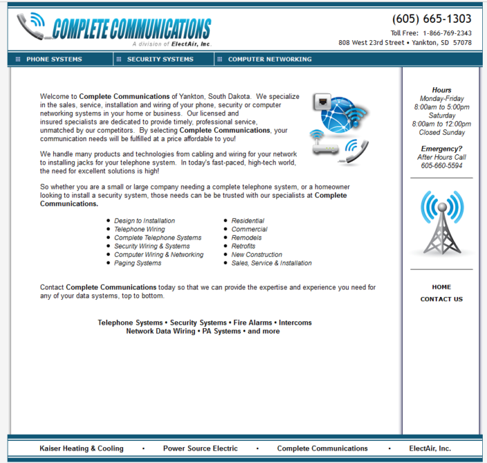 Complete Communications Website