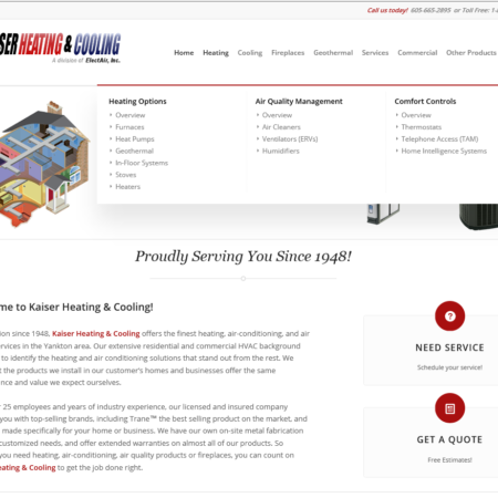 Kaiser Heating & Cooling Website