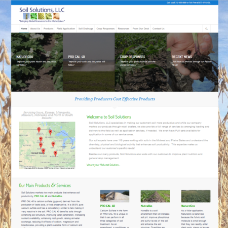 Soil Solutions, LLC Website