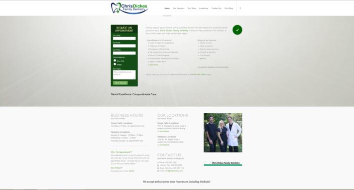 Chris Dickes Family Dentistry Website