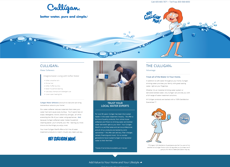 Adamson Water Conditioning Landing Page