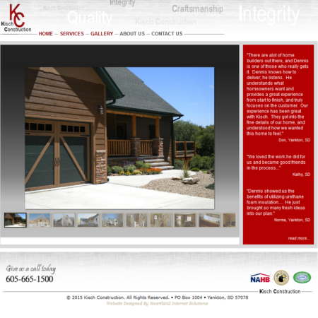 Kisch Construction Website