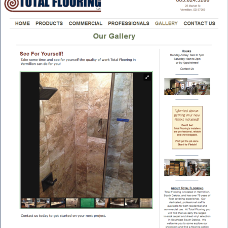 Total Flooring Vermillion Website