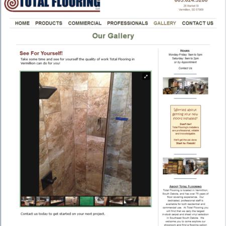 Total Flooring Vermillion Website