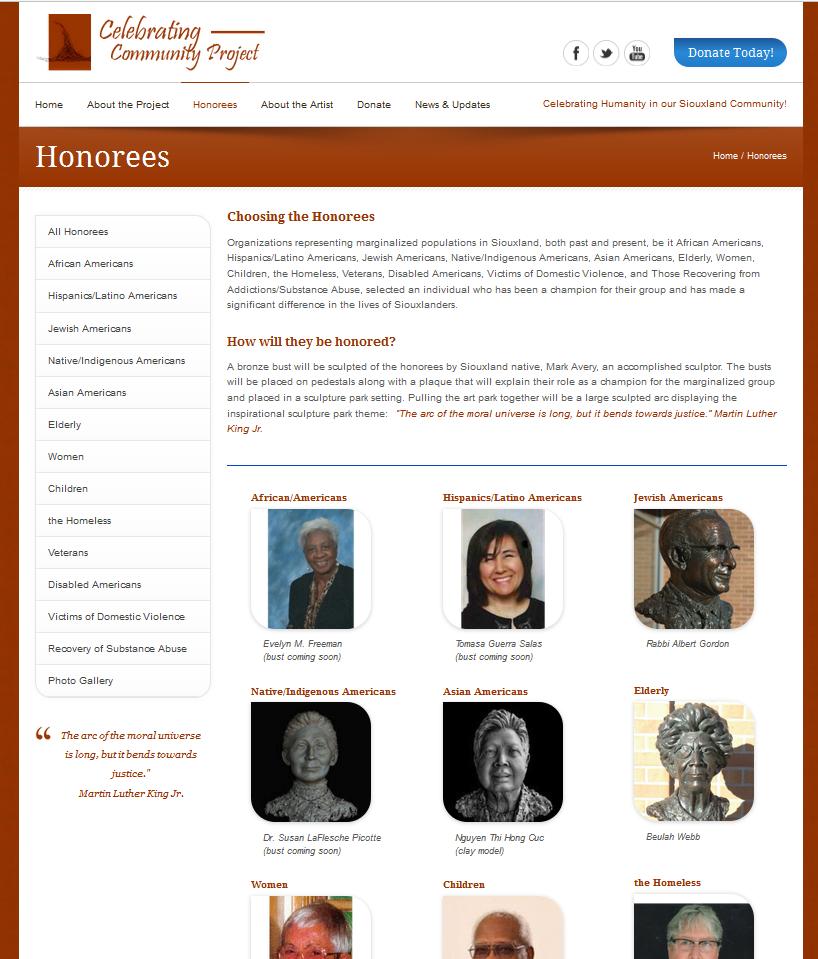Celebrating Community Project Website