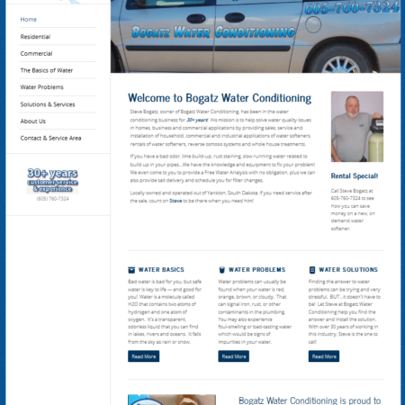 Bogatz Water Conditiong Website