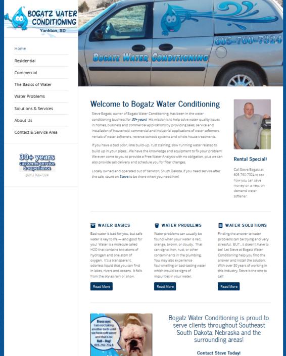 Bogatz Water Conditiong Website