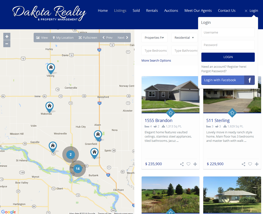 Dakota Realty Website