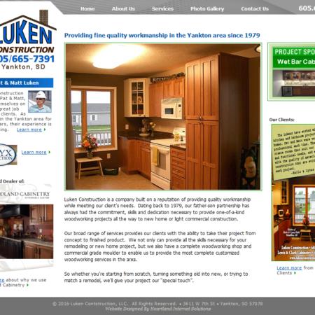 Luken Construction Website