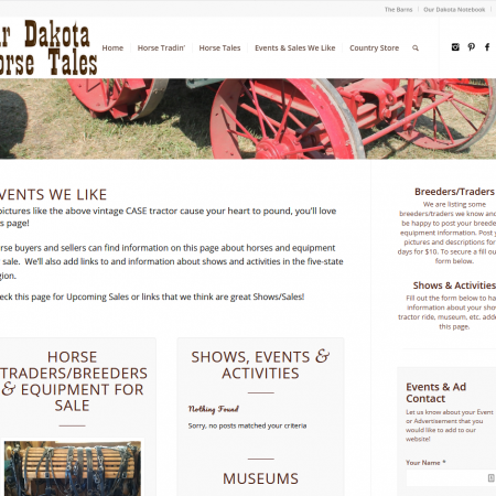 Our Dakota Horse Tales